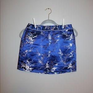 Forever 21 Blue Flower Skirt